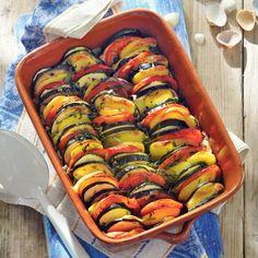 Provençaalse groentetian met aardappel
