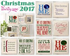 """#31 Thirty-One Statement Wall Art  and pillows make wonderful personalized one-of-a-kind Christmas gifts. Choose from """"About Us"""", """"Define Me"""", """"Established"""", """"Family Wreath"""", """"Just Us"""", """"Our Favorite Place"""" and """"Our Home"""". Customize your's 24/7 at MyThirty-One.com/PiaDavis or select your consultant. Your holiday will be special when you give a gift from Thirty-One. Order in November or early December to make sure your product arrives in time for Christmas."""