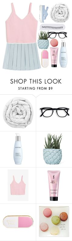 """"""""""" by xilahax ❤ liked on Polyvore featuring Brinkhaus, Darphin, Chen Chen & Kai Williams, Monki, Yves Saint Laurent, ban.do, Kate Spade and Miu Miu"""