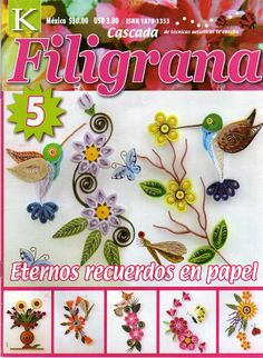 Filigrana, Manualidades, Filigrana  De Papel @tataya.com.mx