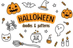 Halloween doodles and patterns