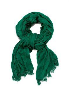Color Esmeralda - Emerald Green!!! Crushed Bamboo Wrap