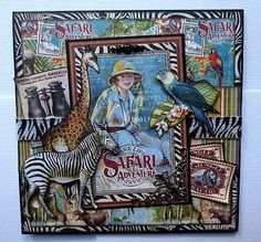 Graphic 45 Safari Adventure Handmade Greeting Card