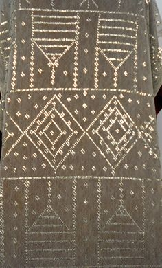 1920's 24 wide by 94 long silver mesh Egyptian by EvaWagenfish