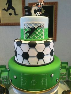 You are in the right place about Soccer Cake buttercream Here we offer you the most beautiful pictur Football Cupcake Cakes, Football Birthday Cake, Soccer Birthday Parties, Sports Birthday, Soccer Party, Soccer Cakes, Lion Cakes, Sport Cakes, Cakes For Boys