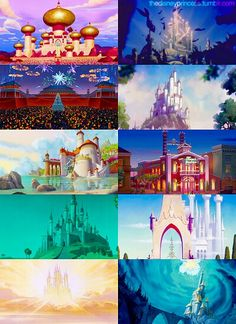 """Tiana's Palace [castles] (Comparisons by TheDisneyPrincess [For the full description and/or other pictures in the series, see my board """"Comparisons""""] Disney Love, Disney Magic, Walt Disney, Im A Princess, Disney Princess, Disney Illustration, Illustrations, Disney Background, Disney Pictures"""