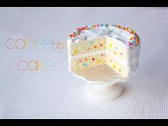 polymer clay cake - YouTube