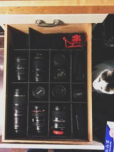 Luxury Camera Equipment Storage Cabinet