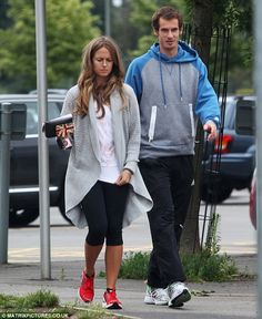 Time off: Andy Murray is making the most of his time off now that Wimbledon is over by spending it with girlfriend Kim Sears Wimbledon Champions, Cut And Style, My Style, Casual Outfits, Cute Outfits, Andy Murray, Tennis Stars, Weekend Style, British Style