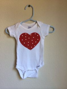 Happy Heart Onesie  Baby Onesie by JamieVanNuysDesigns on Etsy, $15.00