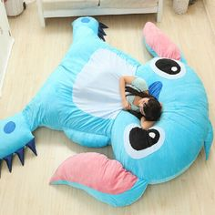 Large Size Cartoon Anime Lilo And Stitch Plush Toys Dolls Giant Stuffed Animals TV Movie Character Child Kids Soft Big Beanbag>>OMG I WANT THIS