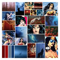 """Wonder Woman // Diana of Themyscira"" by raventail143 ❤ liked on Polyvore featuring art"