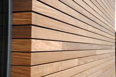 There's something so satisfying about clean edges and equal shadow gaps. Wood Cladding Exterior, Wooden Cladding, Cedar Cladding, Wood Facade, Wood Siding, Exterior Siding, Wall Cladding, Exterior Paint, Exterior Design