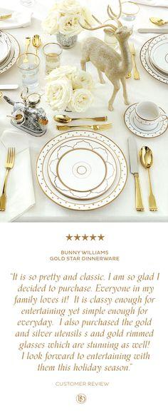 Bunny Williams Gold Star Dinnerware