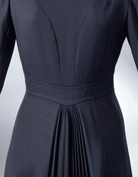 Ossie Clark 1972, back detail pleating from waist on a coat. So gorgeous... I love this for the back of a dress, maybe!