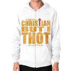 Christian Thot Zip Hoodie