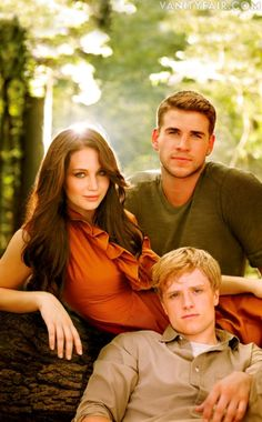 Jennifer Lawrence, Josh Hutcherson, Liam Hemsworth. This book did not teach us about killing children...it taught us about loyalty, family, survival, trust, and least of all love.