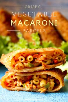 Crispy vegetable macaroni parcels with delicious vegetable macaroni filling inside samosa sheets in the shape of a parcel, breaded and fried until crisp Vegetable Stir Fry, Vegetable Recipes, Good Food, Yummy Food, Yummy Recipes, Iftar, Taste Buds, Macaroni, Appetizers