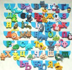 Training poster, Alphabet, Felt Alphabet Poster, ABC alphabet animal,Alphabet Poster