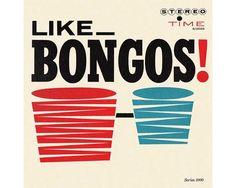 Like bongos - Murray Stein ancienne pochette de disque années 60 vintage album cover 60s