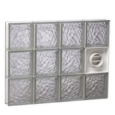 Redi2set Ice Glass Pattern Frameless Replacement Glass Block Window (Rough Opening: 40-In X 24-In; Actual: 38.75-In X 23