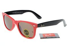 Ray-Ban Wayfarer 2140 Black Red Frame Green Lens RB1108