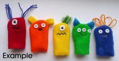 Little Monster Finger Puppet ideas