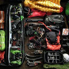 'racked' - Ice climbing gear of Jimmy Chin & Will Gadd