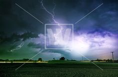 Tornado Alley Severe Storm - Photo - Welcomia Imagery Stock
