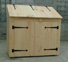 Charming Garbage Can Shed Plans Saltbox Roof Shed Plans