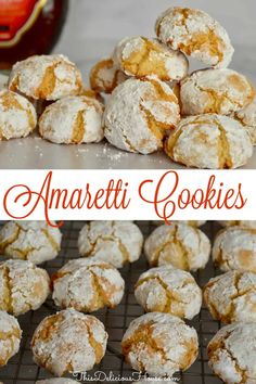 italian cookies Delicious and easy Amaretti Cookie recipe using Amaretto Liqueur and almond flour. This traditional Italian cookie is so tasty and easy to make! Italian Cookie Recipes, Holiday Cookie Recipes, Italian Cookies, Italian Desserts, Easy Cookie Recipes, Köstliche Desserts, Baking Recipes, Delicious Desserts, Dessert Recipes