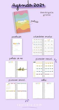 Bullet Journal School, Bullet Journal Inspiration, Diy Agenda, Agenda Planner, Agenda Organization, Organization Bullet Journal, Good Notes, Day Planners, Lettering Tutorial