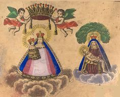 A print of the miraculous images of Mariazell and Maria Taferl, Austria's most popular shrines of Mary.