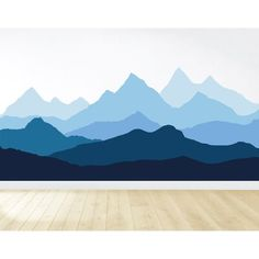 Foundry Select Mountain and Forest Wall Decal Size: H x Mountain Mural, Mountain Decor, Mountain Paintings, Kids Room Murals, Childrens Wall Murals, Woodland Nursery Decor, Printable Wall Art, Decoration, Geometric Mountain