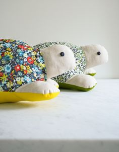 Patterned Stuffed Turtle | Maker Crate