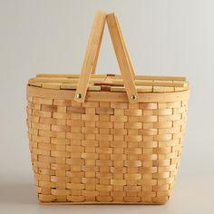 Bamboo Picnic Basket   World Market $19.99