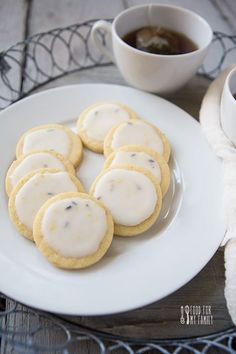 Lavender Lemon Sablé Cookie #recipe via FoodforMyFamily.com @Shaina Pagani Olmanson | Food for My Family