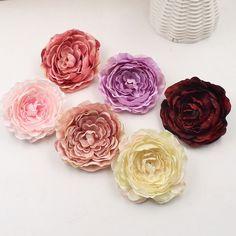30-150Pcs Artificial Silk Spherical Flower Heads Bulk Craft Wedding Party Decor