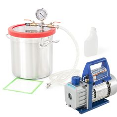 3 Gallons Vacuum Chamber Degas Silicone Liquid Expoxy Resin w/ 3 CFM Vac Pump for wax and bho