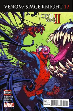 Venom: Space Knight #12 (September, 2016). Cover: Zach Howard.
