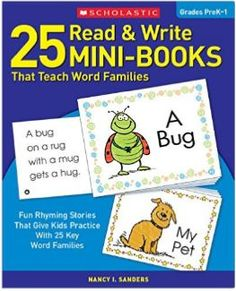 Scholastic read & write mini books to help teach word families. LOVE this set of fun rhyming stories to practice in the classroom during quiet center activity time, circle time, and for homeschooling families.