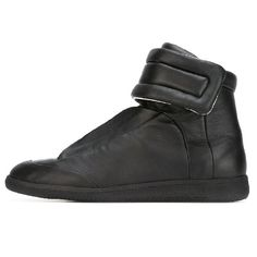 "S37WS0245 SX8966 900 - Maison Margiela: Future High Sneaker - ""Black"" Pumps Heels, Flats, Flat Wedges, Black Shoes, Trainers, Future, Sneakers, Men, Fashion"