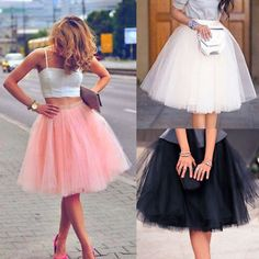 Tutu skirts for women Women Adult Layers Tulle Skirt Long Dress Princess Girls Ballet Tutu Dance Skirt Tutu Skirt Women, Tutu Skirts, Mini Skirts, Skater Skirts, Tutu Dresses, Rosa Style, White Tulle Skirt, Robes Tutu, Mode Chic