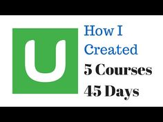 How I Created 5 Udemy Courses in 45 days! Udemy Instructor Success and Accountability Tips - YouTube