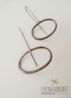 Fascinationstreet B-handmade: Minimal - orecchini in rame e texture/copper earrings and texture