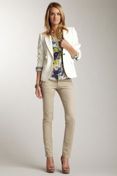 For Ali - French Walnut Women's True Slim Chinos from Lands' End ...