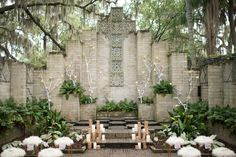 Central Florida wedding ceremony | LH Photography | see more on http://burnettsboards.com/2014/02/glamorous-creative-love-sweet-shoot/