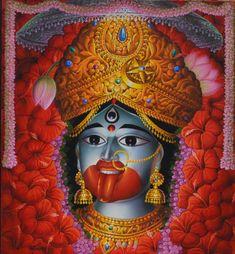 Oil Painting Tips, Painting Art, Kali Mata, Indian Paintings, Oil Paintings, Watercolor Paintings Abstract, Belly Dance Costumes, Hindu Art, Native Art