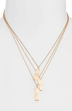 Rebecca Minkoff 'Jewel Box - Eye Love You' Triple Strand Pendant Necklace | Nordstrom