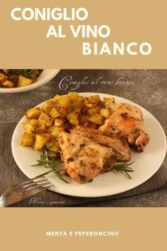 Coniglio al vino bianco #ricetta #secondodicarne #coniglio Xmas Food, Mediterranean Recipes, Italian Recipes, Good Food, Food And Drink, Favorite Recipes, Chicken, Cooking, Small Homes